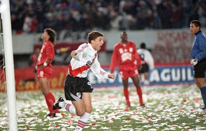 Crespo - River Final Libertadores '96